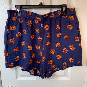 NWT Madewell Pull On Daisy Shorts. L